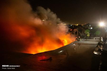 Təbrizin qapalı bazarında yanğın olub, 19 nəfər yaralanıb