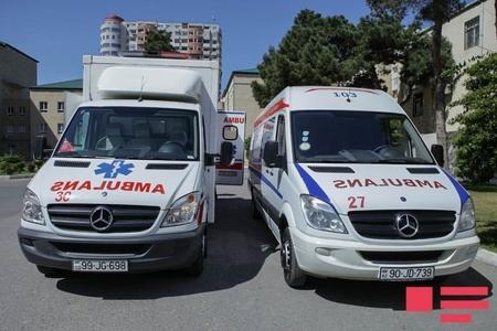 """Lənkəranda """"KamAZ"""" və """"Mercedes"""" toqquşub, 4 nəfər xəsarət alıb"""
