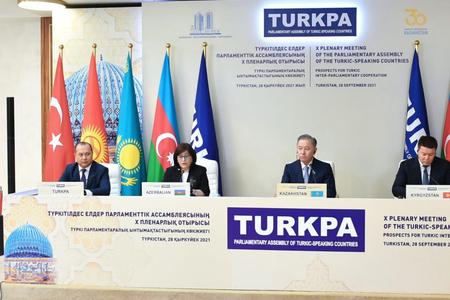 TÜRKPA-ya üzv ölkələrin parlament sədrlərinin iştirakı ilə mətbuat konfransı keçirildi -FOTO