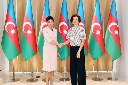 Birinci vitse-prezident UNESCO-nun Baş direktoru ilə görüşüb