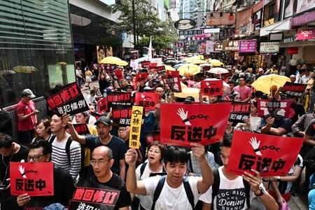 Honq Konq: Xalq hökumətin istefasını tələb edir - FOTOLAR