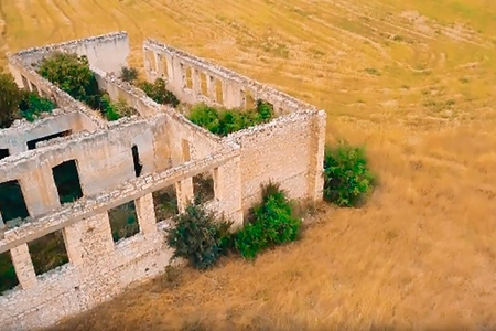 Ermənilər viran qoyduqları Ağdamın ən son şəkillərini yaydılar – FOTOLAR