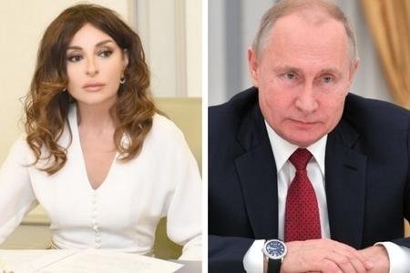 Vladimir Putin Mehriban Əliyevanı təbrik edib