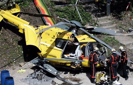 Helikopter qəzaya uğradı