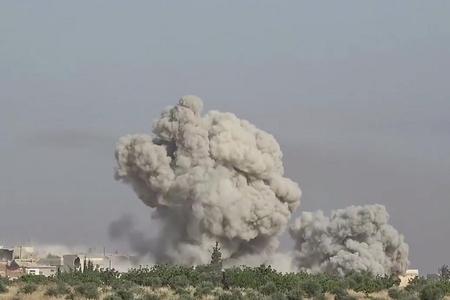 Suriyada iki güclü partlayış olub