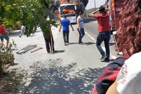 Avtobus yandı, 5 nəfər öldü və...