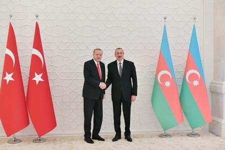 Azərbaycan Prezidenti Türkiyə Prezidenti ilə görüşüb - FOTOLAR