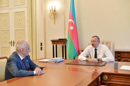Prezident İlham Əliyev Hacıbala Abutalıbovu qəbul edib