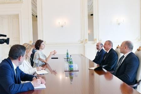 Prezident İlham Əliyev UNESKO-nun Baş direktorunu qəbul edib