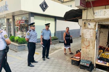 Bakının Yasamal rayonunda küçə ticarətinin qarşısı alınıb