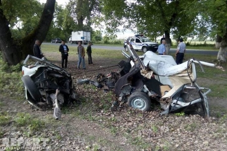 Oğuzda avtomobil ağaca çırpılıb, sürücü ölüb