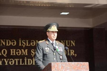 Vilayət Eyvazov Xaçmazda polis şöbəsinin binasının açılışında iştirak edib