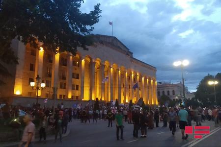 Tbilisidə növbəti mitinq keçirilir - FOTO