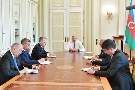 Prezident İlham Əliyev yeni təyin olunmuş icra başçıları ilə görüşdü - FOTO