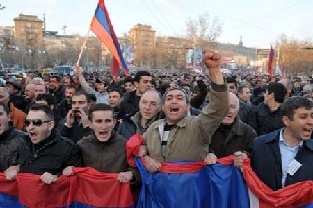 Ermənistanda növbəti aksiya keçirilib