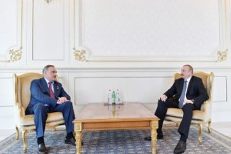Prezident İlham Əliyev Sovet İttifaqı Qəhrəmanı, general-leytenant Ruslan Auşevi qəbul edib