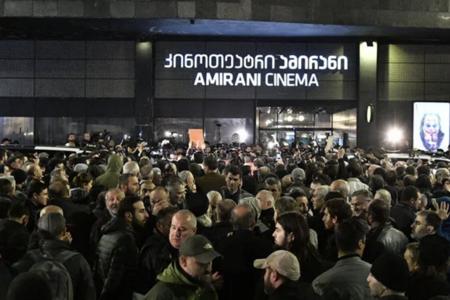 Tbilisidə keçirilən aksiyada 11 nəfər saxlanılıb - Foto